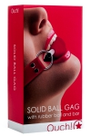 Solid Ball Gag rouge - Ouch!