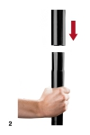 Barre de Pole Dance - Noir