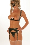 Soutien gorge seins nus latex French Frilled