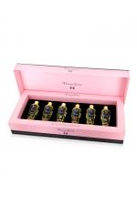 Coffret 6 huiles de massage sèches - Plaisir Secret : Coffret cadeau Prestige avec 6 huiles de massages sèches Plaisir Secret aux parfums différents, le tout dans une luxueuse boite.
