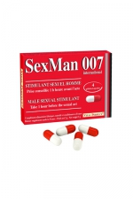 Aphrodisiaque SexMan 007 - 4 gélules : 4 Gélules aphrodisiaques pour hommes, pour booster la virilité et les performances sexuelles.