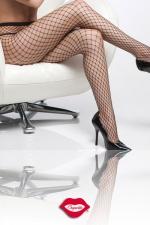 Collant résille Diamond Net : Un collant à large résille, filet minimal qui vous ... déshabille.