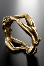 Bijou de gland Endring : Un anneau en bronze sculpté pour honorer votre  gland.