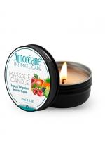 Bougie de massage fruits exotiques - Amoreane : Bougie de massage qui offre un parfait environnement chaud et sensuel pour vos moments intimes. Parfum Fruits Exotiques.