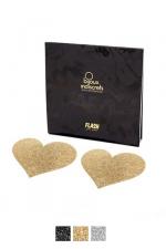 Bijoux de seins Flash Coeur : Avec ces d�corations permettant de cacher les mamelons, osez laisser le soutien-gorge au placard !