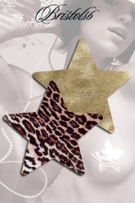 Nippies étoile Domenico : Set de 2 paires de Nippies assortis léopard et doré, des cache-tétons tendance pour un décolleté sexy sans retenue.