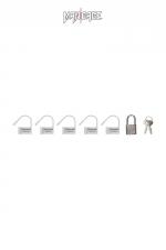 6 Cadenas  blanc - Mancage : Lot de 6 petits cadenas blancs (5 plastique + 1 métal) pour verrouiller vos accessoires BDSM.