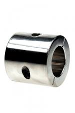 Ball stretcher acier - 56 mm : Avec un cylindre de 56 mm de haut pour un poids de 801 g, infligez une tension extrême à vos testicules.