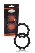 Set 2 cockrings  Bead Ring - Malesation : jeu de 2 cockring avec relief perl� pour plus de sensations tout en sublimant l'�rection.