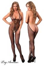 Combinaison Bare Bottom : Combinaison r�sille ouverte, au d�collet� vertigineux dans le dos qui descend jusque sous les fesses.