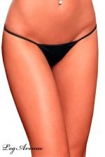 String ficelle Line - noir : Le string ficelle noir, votre petite lingerie sexy indispensable.