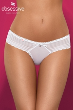 String Sensita : string blanc de la collection Sensita d'Obsessive, avec un petit bijou sur l'avant.