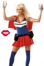 Costume Refreshinator : Un costume de super héroïne au pouvoir très spécial : servir des boissons toujours fraîches !
