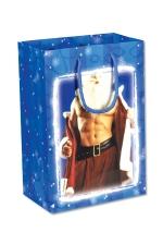 Sac cadeau sexy : Un joli sac cadeau avec un Père Noel très coquin en illustration !