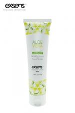 Lubrifiant Exsens à l'Aloe Vera : Gel lubrifiant intime à base d'eau à l'extrait d'Aloe Vera, par Exsens.