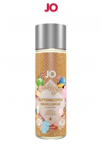 Lubrifiant aromatisé Sauce caramel 60 ml : Lubrifiant aromatisé comestible parfum Sauce Caramel (BUTTERSCOTCH) au format 60 ml de la marque Américaine System Jo.