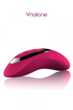 Masseur intime Curve : stimulateur intime haute qualité avec contrôle tactile de l'intensité des vibrations.