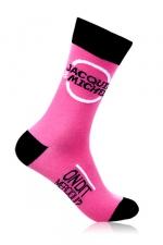 Chaussettes Jacquie & Michel - rose : Paire de chaussettes Jacquie et Michel pour hommes, couleur rose.