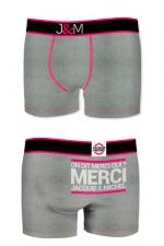 Boxer J&M en coton - gris : Ne loupez jamais une belle occasion de montrer votre... Boxer (modèle gris en coton) Jacquie et Michel.