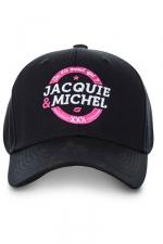 Casquette officielle Jacquie et Michel n°2 : Casquette On dit merci qui? avec logo J&M rond, pour permettre aux initiés (nombreux) d'afficher leur passion commune.