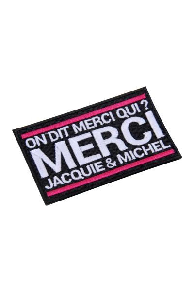 Ecusson rectangle Jacquie et Michel