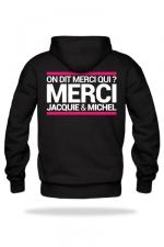 Sweat-shirt Capuche J&M noir : A la demande générale, voici le sweat à capuche J&M pour compléter votre tenue de fan (modèle noir).