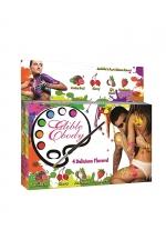 Peinture de corps comestible parfums fruités : Boite de 4 tubes de peinture comestible aux parfums fruités. Amusez-vous puis délectez-vous avec le corps de votre partenaire.
