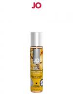 Lubrifiant aromatisé ananas 30 ml : Lubrifiant aromatisé comestible parfum ananas au format 30 ml de la marque Américaine System Jo.