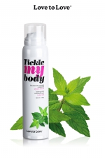 Mousse massage crépitante - menthe : Cosmétique érotique spécial massages sensuels parfum menthe.