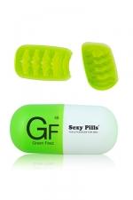 Masturbateur Sexy Pills Green Feez : Mini masturbateur pour homme en �lastom�re ultra doux avec texture en vagues qui accroit les sensations.