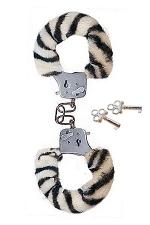 Menottes Fourrure Submissive Zebra