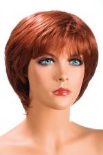 Perruque Sofia rousse : Perruque rousse aux cheveux courts ayants un aspect naturel. Elle à une jolie mèche effilée à l'avant.