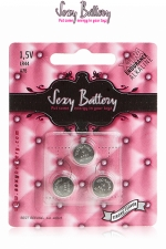 Sexy battery - Piles LR44 x3 : 3 piles Sexy Battery de type LR44 au lithium pour faire fonctionner vos sextoys.