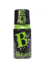 Poppers Beast 10 ml : Aphrodisiaque puissant originaire d'Angleterre, à base de nitrite de propyle, en petit flacon de 10 ml.