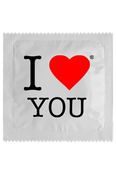 Préservatif humour - I Love You