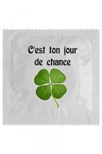 Préservatif humour - Jour De Chance : Préservatif Jour De Chance, un préservatif personnalisé humoristique de qualité, fabriqué en France, marque Callvin.