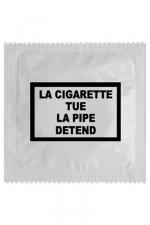Préservatif humour - La Cigarette Tue : Préservatif La Cigarette Tue, un préservatif personnalisé humoristique de qualité, fabriqué en France, marque Callvin.