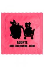 Préservatif humour - Adopte Une Cochonne : Préservatif Adopte Une Cochonne, un préservatif personnalisé humoristique de qualité, fabriqué en France, marque Callvin.