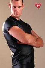 Tee Shirt faux cuir : Tee-shirt moulant effet faux cuir, alliez confort et style.