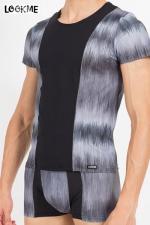 T-Shirt Shade : Tee shirt bicolore en lycra, assorti à la gamme de lingerie masculine Shade de Look Me.